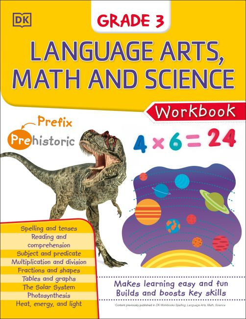 eBook cover of DK Workbooks: Language Arts Math and Science Grade 3