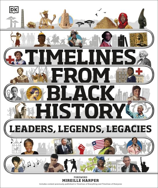 Hardback cover of Timelines from Black History