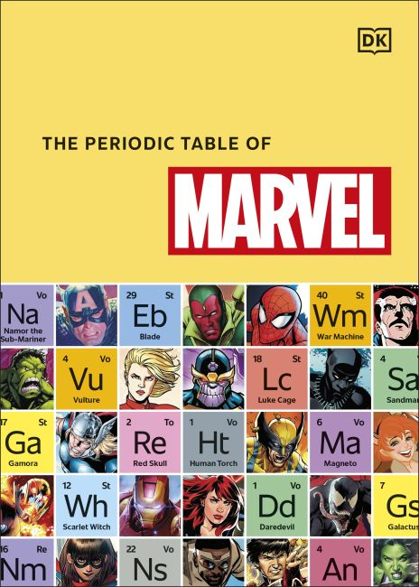 Hardback cover of The Periodic Table of Marvel