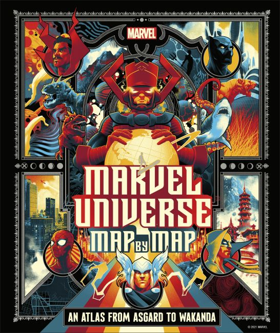 Hardback cover of Marvel Universe Map By Map