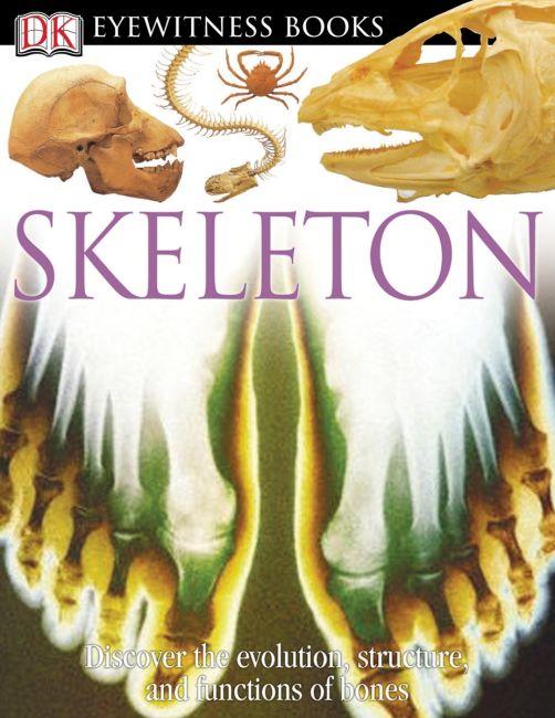 Hardback cover of DK Eyewitness Books: Skeleton