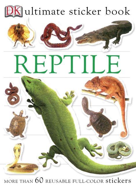 Paperback cover of Ultimate Sticker Book: Reptile