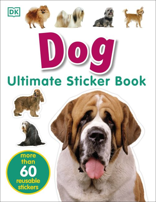 Paperback cover of Ultimate Sticker Book: Dog