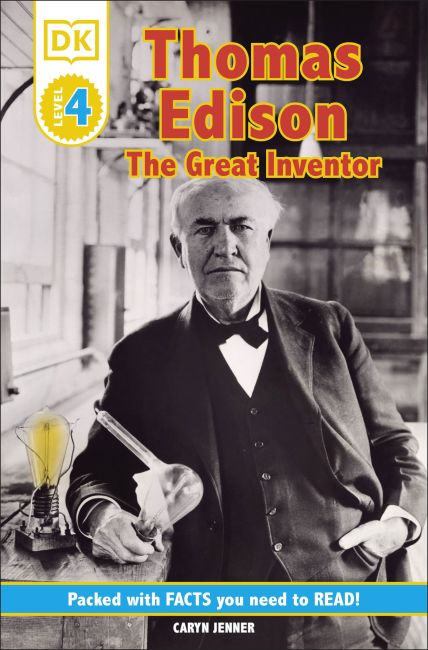 Paperback cover of DK Readers L4: Thomas Edison: The Great Inventor
