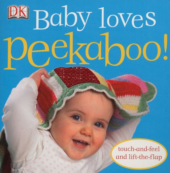 Board book cover of Baby Loves Peekaboo!