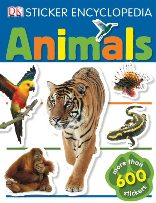 Paperback cover of Sticker Encyclopedia: Animals