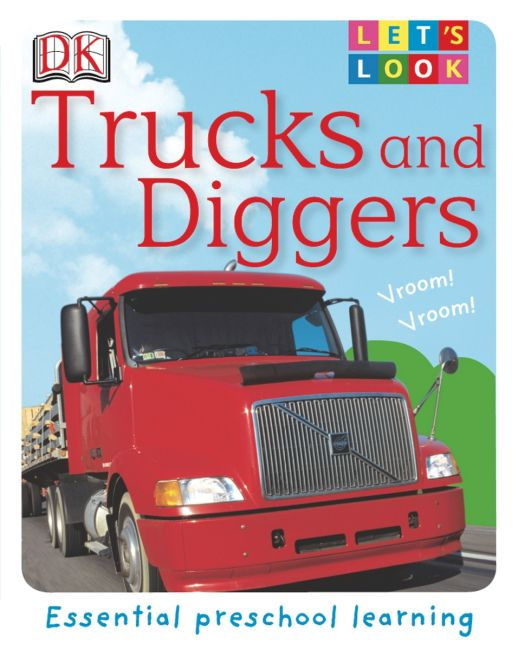 eBook cover of Let's Look:Trucks and Diggers