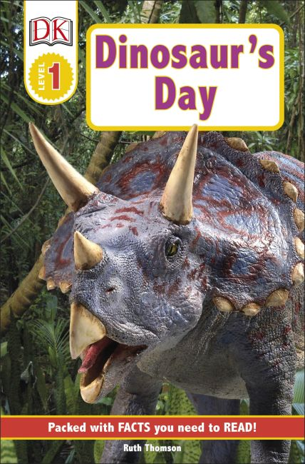 Paperback cover of DK Readers L1: Dinosaur's Day