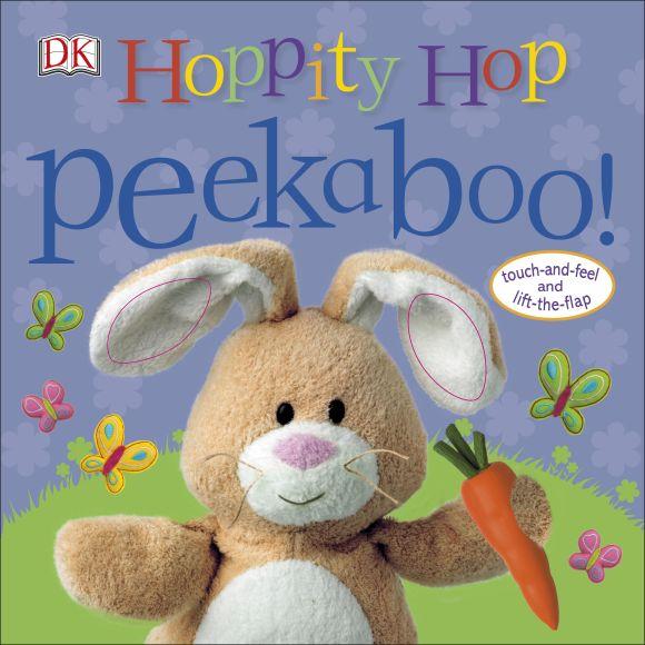 Board book cover of Hoppity Hop Peekaboo!