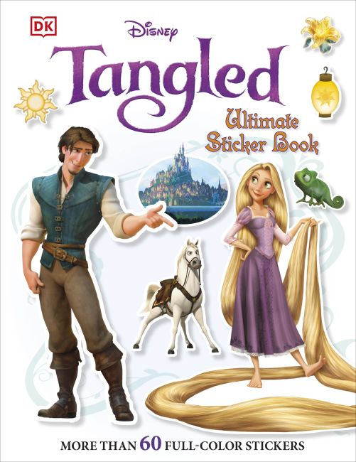 Paperback cover of Ultimate Sticker Book: Tangled
