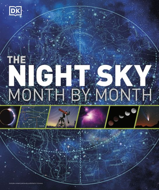 Hardback cover of The Night Sky Month by Month