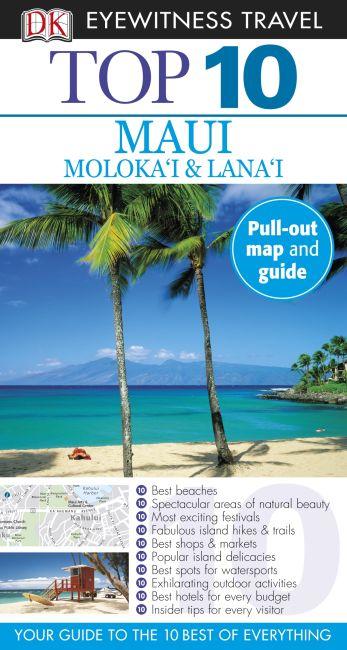 Paperback cover of DK Eyewitness Top 10 Maui, Molokai and Lanai