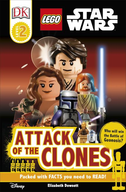 Paperback cover of DK Readers L2: LEGO Star Wars: Attack of the Clones
