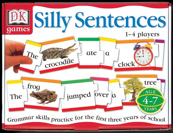 Paperback cover of DK Toys & Games: Silly Sentences