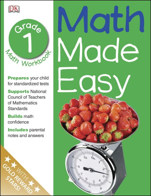 Paperback cover of Math Made Easy: First Grade