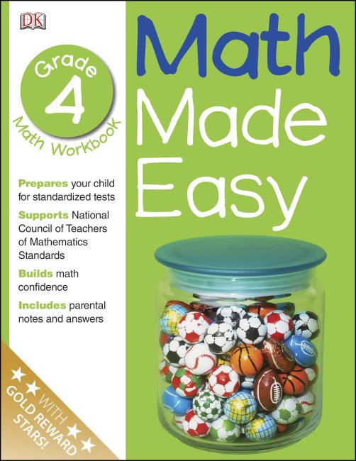 Paperback cover of Math Made Easy: Fourth Grade