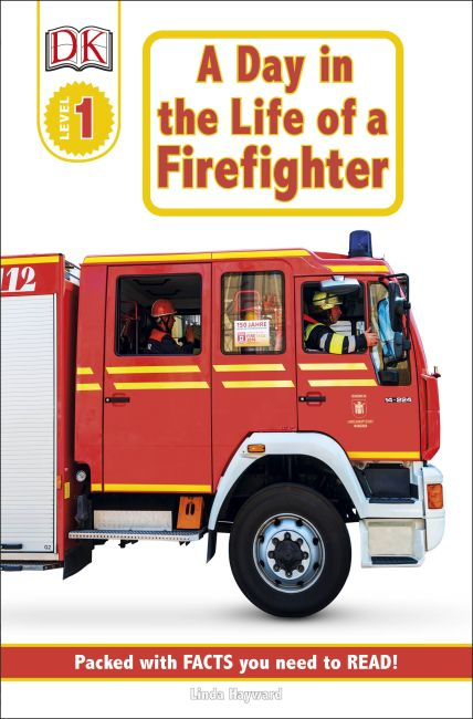 Paperback cover of DK Readers L1: Jobs People Do: A Day in the Life of a Firefighter