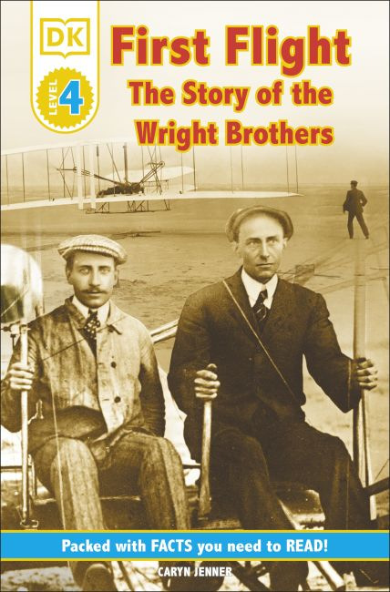 Paperback cover of DK Readers L4: First Flight: The Story of the Wright Brothers