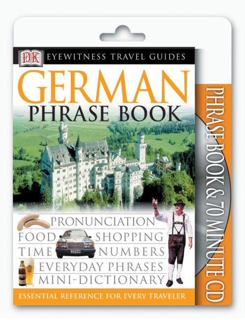 Paperback cover of Eyewitness Travel Guides: German Phrase Book & CD