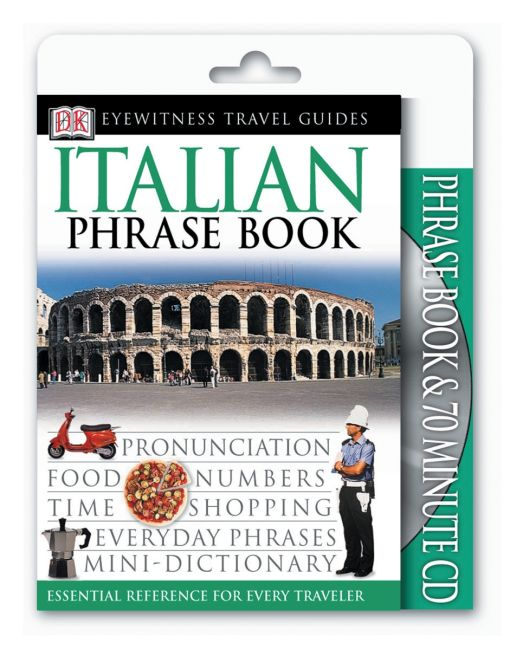 Paperback cover of Eyewitness Travel Guides: Italian Phrase Book & CD