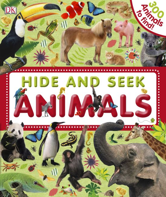 eBook cover of Hide and Seek Animals