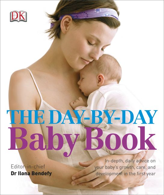 Hardback cover of The Day-by-Day Baby Book
