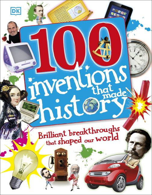 Hardback cover of 100 Inventions That Made History