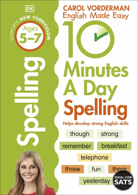 Paperback cover of 10 Minutes A Day Spelling, Ages 5-7 (Key Stage 1)