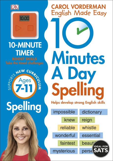 Paperback cover of 10 Minutes A Day Spelling Ages 7-11 Key Stage 2
