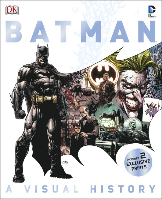 Hardback cover of Batman A Visual History
