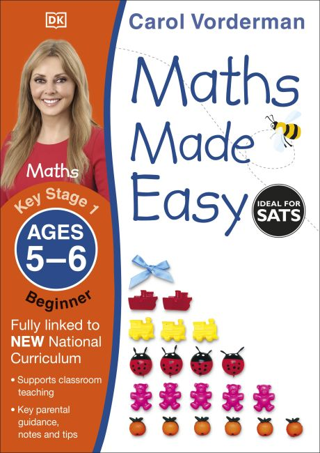 Paperback cover of Maths Made Easy Ages 5-6 Key Stage 1 Beginner