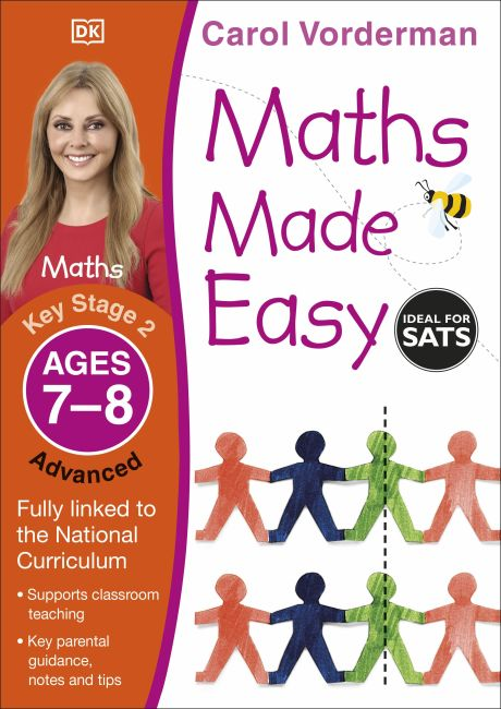 Paperback cover of Maths Made Easy Ages 7-8 Key Stage 2 Advanced