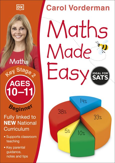 Paperback cover of Maths Made Easy Ages 10-11 Key Stage 2 Beginner