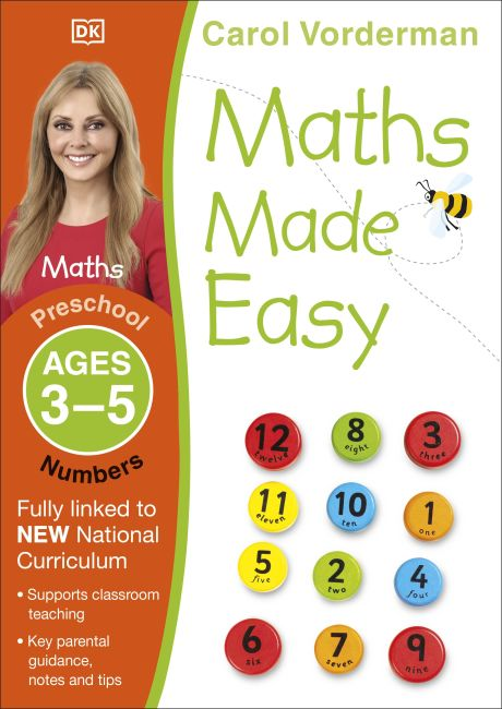 Paperback cover of Maths Made Easy Numbers Ages 3-5 Preschool