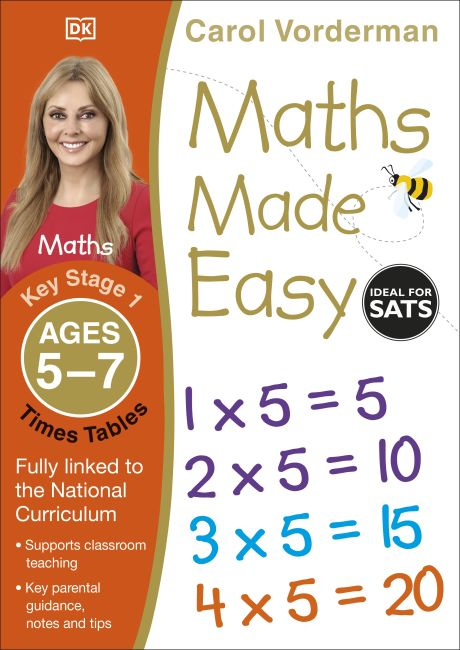 Paperback cover of Maths Made Easy Times Tables Ages 5-7 Key Stage 1