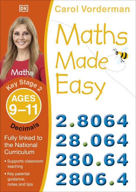 Paperback cover of Maths Made Easy Decimals Ages 9-11 Key Stage 2