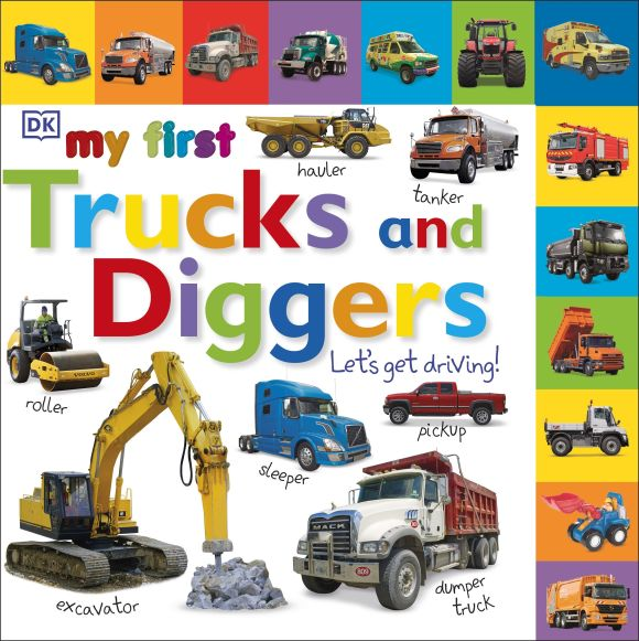 Board book cover of My First Trucks and Diggers Let's Get Driving