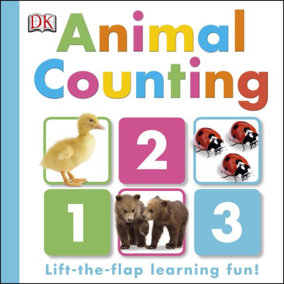 Board book cover of Animal Counting