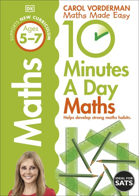 Paperback cover of 10 Minutes a Day Maths Ages 5-7 Key Stage 1