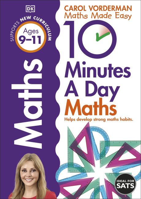 Paperback cover of 10 Minutes a Day Maths Ages 9-11 Key Stage 2