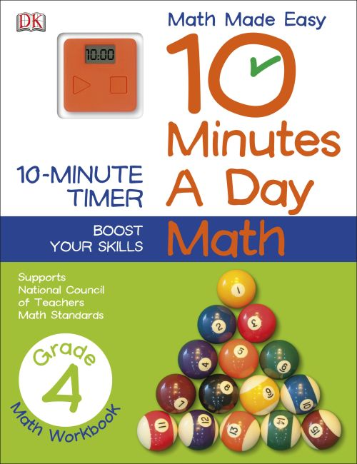 Paperback cover of 10 Minutes a Day: Math, Fourth Grade