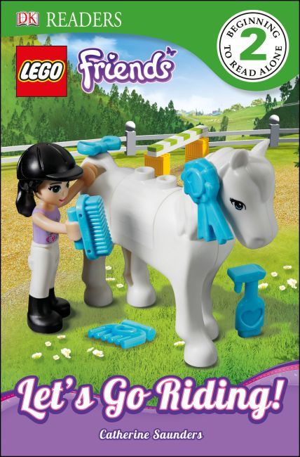 Paperback cover of DK Readers L2: LEGO Friends: Let's Go Riding!