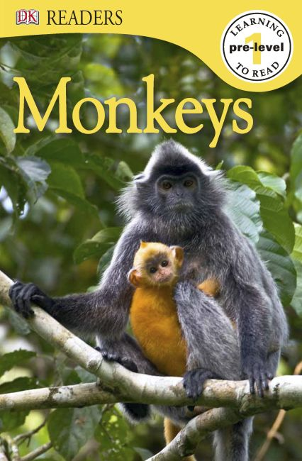 eBook cover of DK Readers L0: Monkeys