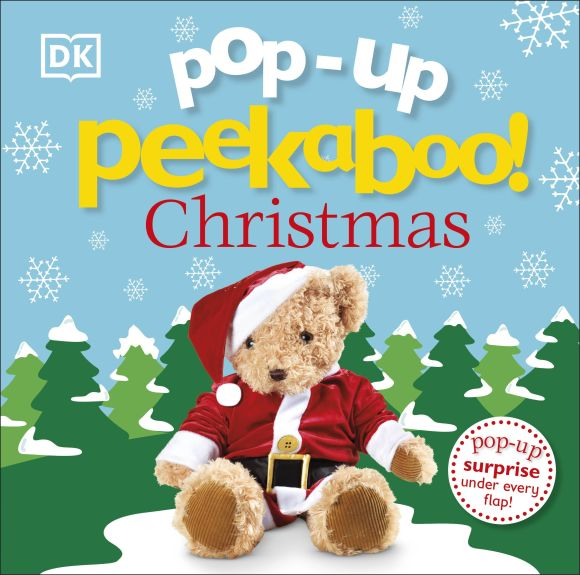 Board book cover of Pop-Up Peekaboo! Christmas