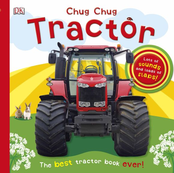 Board book cover of Chug, Chug Tractor