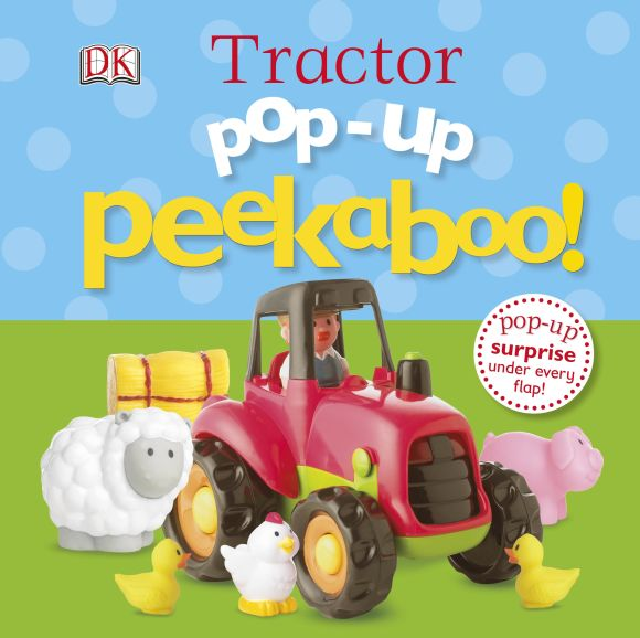 Board book cover of Pop-Up Peekaboo! Tractor