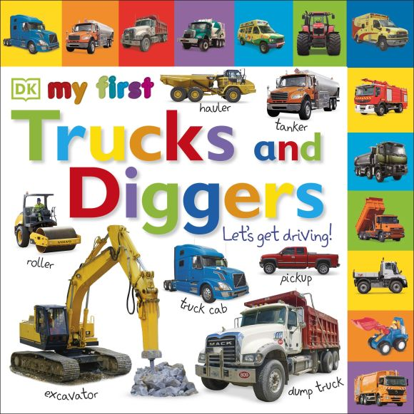 Board book cover of Tabbed Board Books: My First Trucks and Diggers