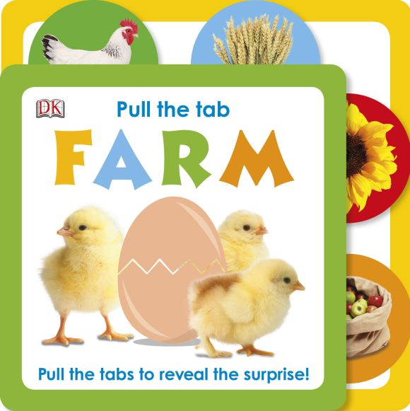Board book cover of Pull the Tab: Farm