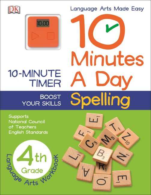 Paperback cover of 10 Minutes a Day: Spelling, Fourth Grade