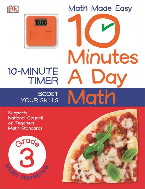 Paperback cover of 10 Minutes a Day: Math, Third Grade